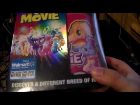 My Little Pony The Movie DVD Bluray Unboxing Walmart Exclusive