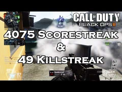 MeiseTV - Hope you enjoy the video lads, definitely one of the best kill streaks that I h ave been on so far in black ops 2! A total of a 4075 score-streak twinned wit...