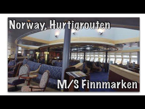 Hurtigruten: Walk through M/S Finnmarken with a steady cam