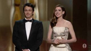 Video James Franco and Anne Hathaway host the Oscars® MP3, 3GP, MP4, WEBM, AVI, FLV Januari 2018