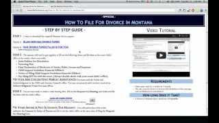 Go to http://wikidownload.com/wiki/montana-divorce-forms-templates/ STEP 1 - Download the required Montana divorce papers...