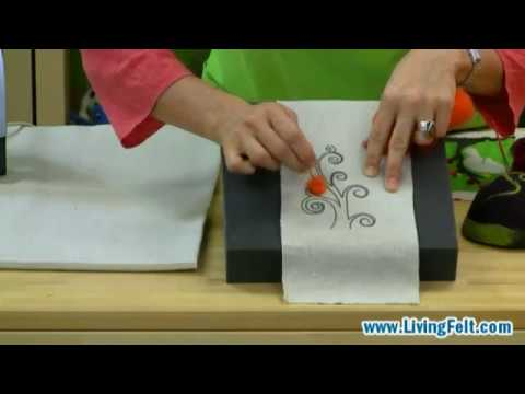 Needle Felting A Picture Free Tutorial