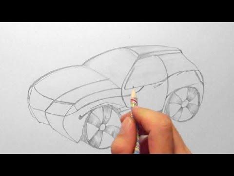 Fantasie – Auto, zeichnen im Zeitraffer (Fantasy – Car, drawing in fast motion)[HD]