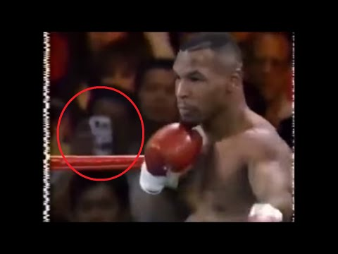 Unexplained Time Traveler Spotted at a Mike Tyson Fight in 1995