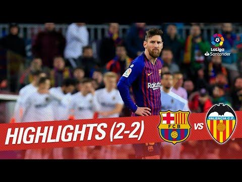 Highlights FC Barcelona Vs Valencia CF (2-2)