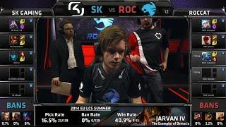 SK Gaming Vs ROCCAT | S5 EU LCS Spring 2015 Week 1 Day 1 | SK Vs ROC W1D1 G1 Full VOD HD