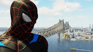 Spider-man PS4 New Suit - Spider-man Black Suit Walkthrough | Superhero FXL Gameplay