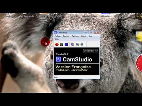 comment regler camstudio