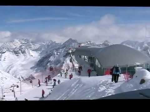 Panorama Alp z lodowca Gletscher