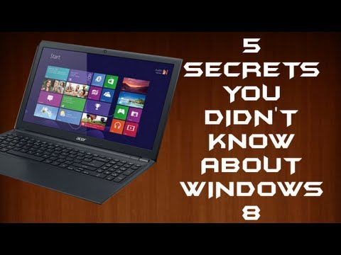 Window - Hey guys, it's Kyle here, showing you guys A few secrets I know about Windows 8 ;). Thanks for watching. I own all of the footage in the video [taken with Mi...