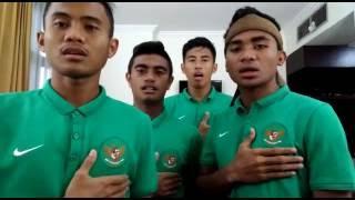 Timnas U19 - Menyanyikan Lagu Indonesia Raya