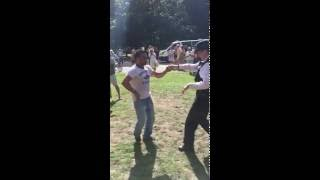 Lady Police officer Dancing salsa In The Park ,   London . full download video download mp3 download music download