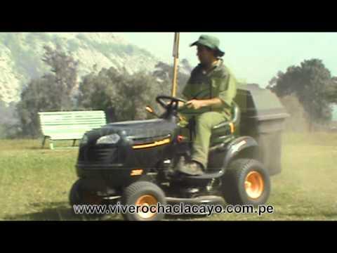 Tractor cortadora de césped