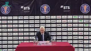 Послематчевая пресс-конференция— Единая лига ВТБ: «Астана» vs «Цмоки Минск»