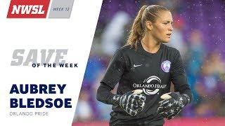 Orlando Pride goalkeeper Aubrey Bledsoe's save vs. Washington Spirit midfielder Tori Huster has been named the NWSL Save of the Week for Week 12.