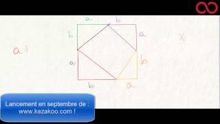 مبرهنة فيتاغورس – Démonstration du théorème de Pythagore