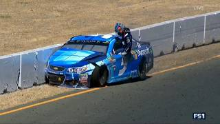 Monster Energy NASCAR Cup Series 2017. Sonoma Raceway. Kasey Kahne Hard Crash