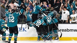 Sharks storm back with four goals on same power play, win in OT to claim epic Game 7 by NHL