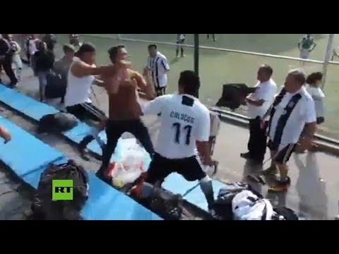 Se desató una violenta pelea de padres durante un partido de fútbol infantil