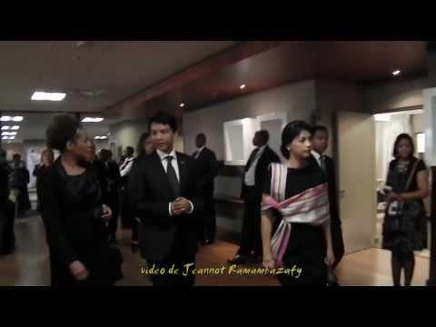 Couple Rajoelina. Mandela Pretoria, 11.12.2013