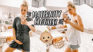 FIRST TIME TRYING ON MATERNITY CLOTHES!! by Aspyn + Parker