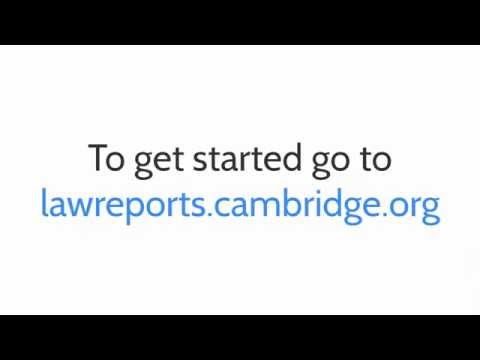 Using Cambridge Law Reports