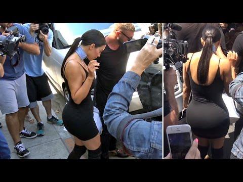Super Skinny Kim Kardashian Sparks Chaos Shopping On Melrose On Kylie's Birthday