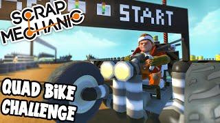 Scrap Mechanic! - QUAD BIKE CHALLENGE! Vs AshDubh - [#35] | Gameplay | by iBallisticSquid
