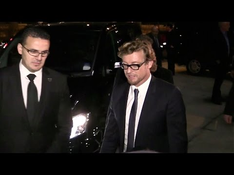 EXCLUSIVE - SUPER SEXY Simon Baker at TF1 TV channel in Paris