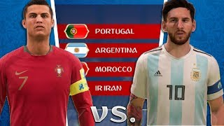 Video What If MESSI and RONALDO were in the SAME World Cup Group? - FIFA 18 World Cup Career Mode MP3, 3GP, MP4, WEBM, AVI, FLV Agustus 2018