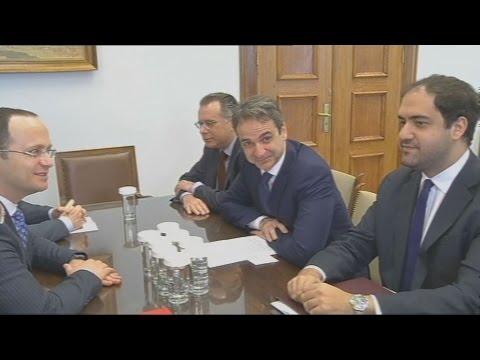 Συνάντηση του Κυριάκου Μητσοτάκη με τον Αλβανό ΥΠΕΞ