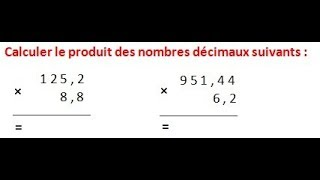 Maths 6ème - Les opérations : Addition Soustraction Multiplication Division Exercice 11