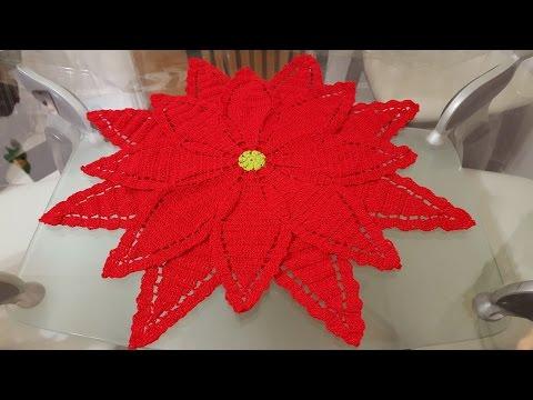 uncinetto - centrotavola a forma di stella di natale