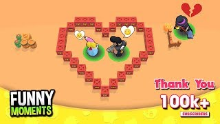 Love Story BULL, PIPER & MORTIS 💔 Brawl Stars Funny Moments 2019 | Thank You 100k+ Subscribers !!!