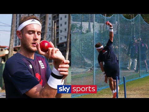Stuart Broad gives fascinating display and explanation of his bowling techniques!