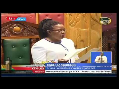 Bunge la taifa limeidhinisha hoja ya mbunge wa Kisumu mjini magharibi Olago Oluoch