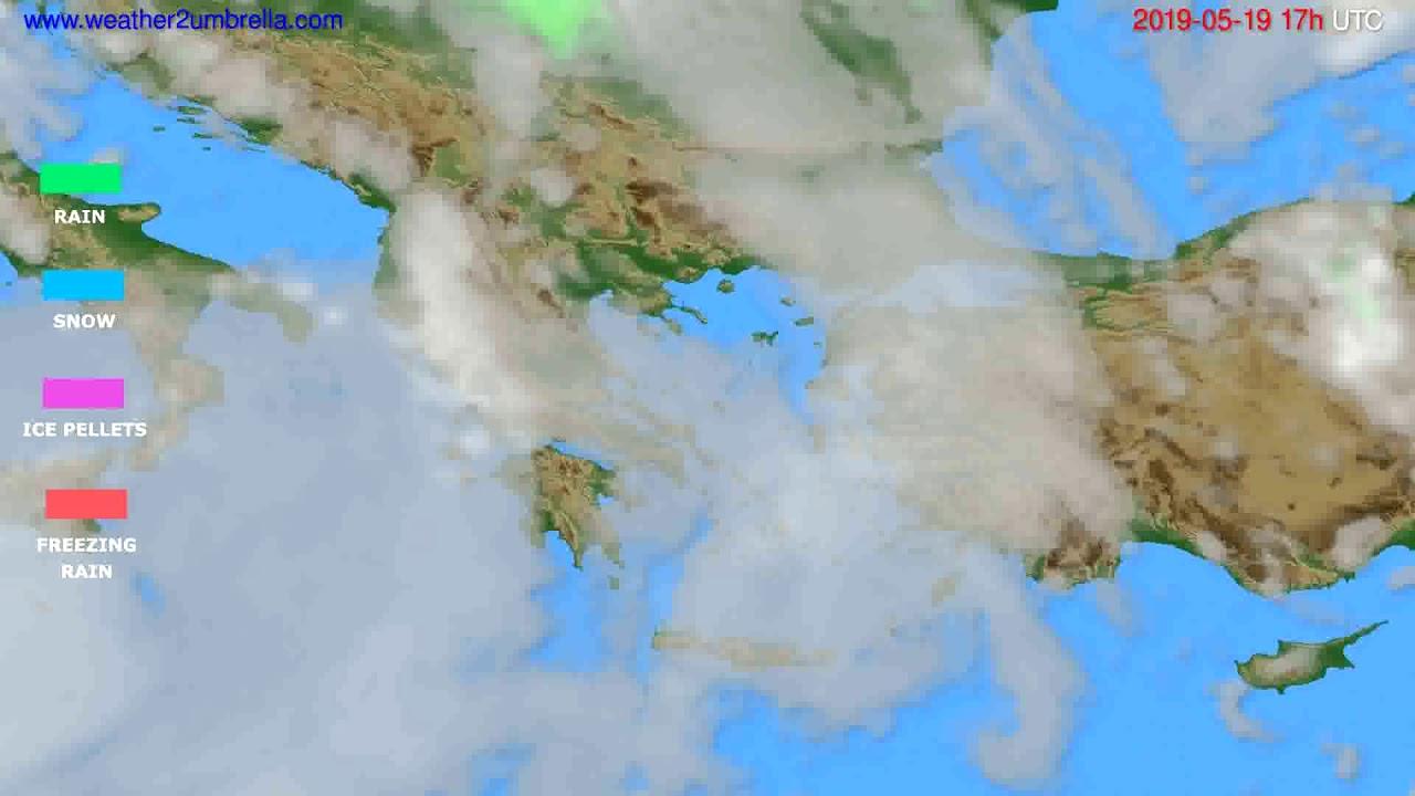 Precipitation forecast Greece // modelrun: 00h UTC 2019-05-18