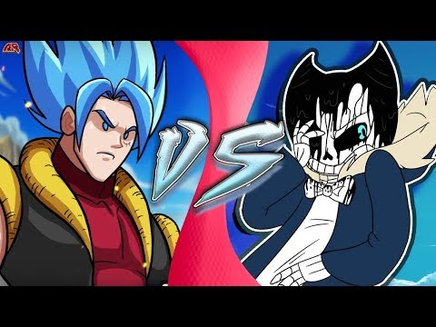 GOFFU Vs SANDY! (Luffy & Goku Vs Sans & Bendy) (CartoonHooligans Vs Undertale AU) CARTOON FIGHT CLUB