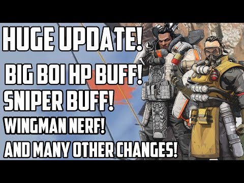 Huge New Apex Legends Balance Update - Caustic And Gibraltar HP Buff, Sniper Buff, Nerfs And More!