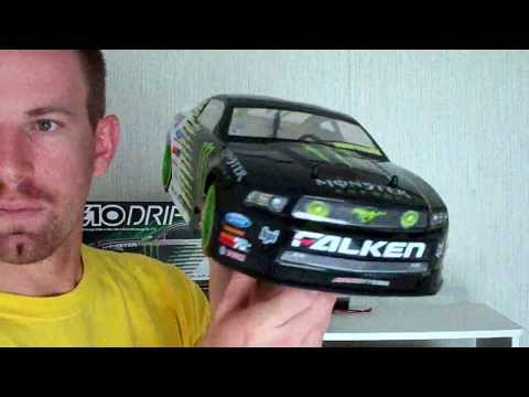 e10 - My newest RC car the Monster Energy Falken Tire Ford Mustang GT . There is no detail spared in the mimicking of pro drifting champion Vaughn Gittin Jr.'s rid...