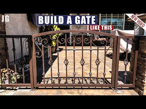 Small Decorative Arch-top Gate  | JIMBO'S GARAGE