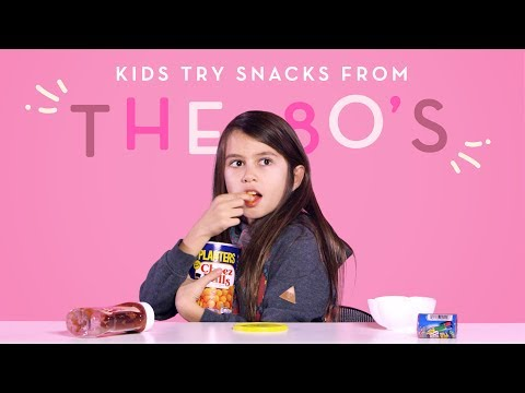 Kids Sample Snacks from the 1980s