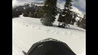 6. 2013 Skidoo Summit SP 800 E-Tec Tmotion boondocking and hill climbing