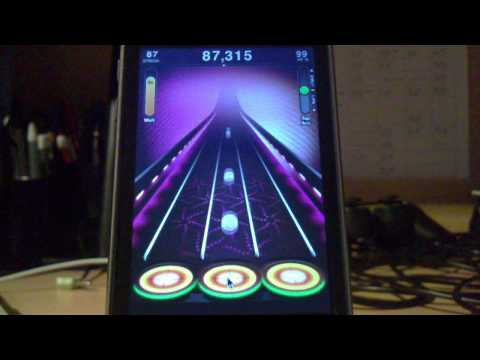 Tap Tap Revenge 3 controlled by computer mouse (Linkin Park - Bleed It Out (Easy))