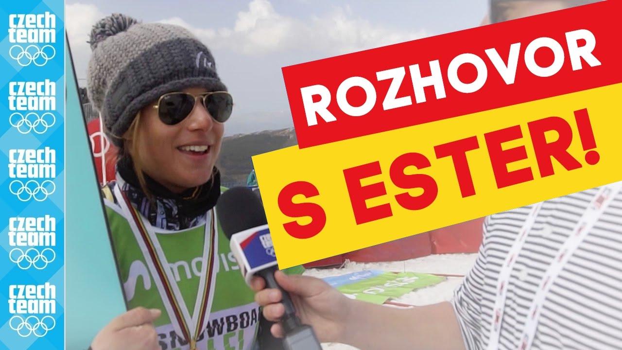 Ester Ledecká a její dojmy z mistrovství světa v Sierra Nevadě