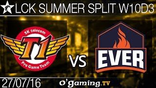 SKT T1 vs ESC Ever - LCK Summer Split 2016 - W10D3