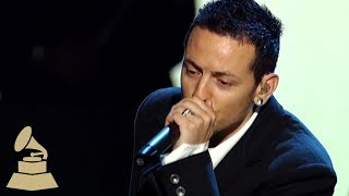 Chester Bennington from Linkin Park talks about performing at the 48th GRAMMY Awards with Paul McCartney and Jay-Z.