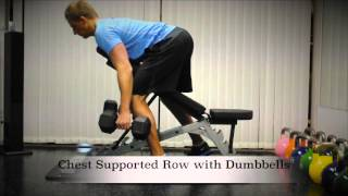 Exercise Index: Chest Supported Row with Dumbbells