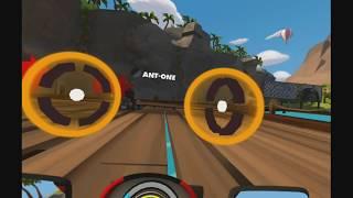 VR Karts: Notre Test Vidéo Complet sur PlayStation 4 Pro de ce jeu de kart fantaisiste dédié au PlayStation VR, le casque de réalité virtuelle de Sony. Si le concept de départ pouvait faire penser à un sympathique clone de Mario Kart, force est de constater qu'hormis la réalisation graphique, rien ne peut donner envie d'acheter le soft de Viewpoints Games, et encore moins son prix scandaleux de 40€!Filmé en 1080p@60fps avec le Live Gamer Portable 2 d'AVerMedia pour http://www.n-gamz.com!- Les points positifs: Une réalisation graphique plutôt jolie/ Une fluidité d'animation convaincante/ Quelques moments sympas- Les points négatifs: La gestion des collisions scabreuse/ La maniabilité qui fait souvent des siennes/ Le gameplay trop classique et sans saveur/ L'ennui et la répétitivité/ Le manque de folie/ La durée de vie famélique/ L'I.A. cheatée qui ruine les courses/ Le prix tout bonnement scandaleux de 40€- La Note Vidéo-Test: 5/20