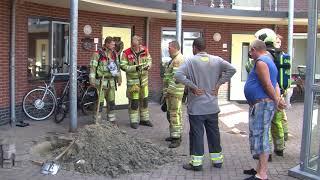 Brandweer gebeld voor gaslucht in Wilgenstraat
